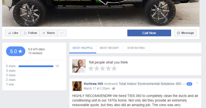 facebook reviews marketing