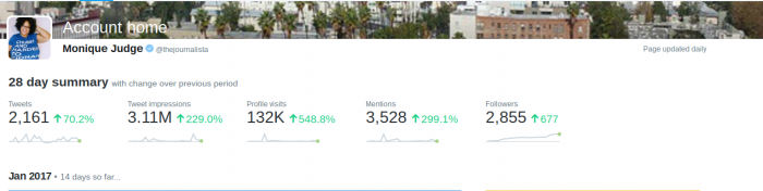 using twitter analytics